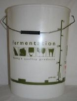 25 Litre Fermentation Vessel (Full Colour-Graduated) Fitted With Airlock And Little Bottler